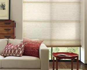 Alustra Duette honeycomb shades raised-min