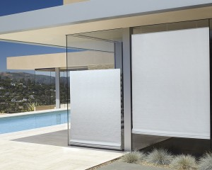 Vignette Tiered Modern Roman Shades outside view-min