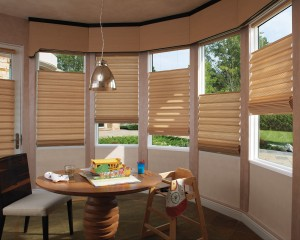 Vignette Tiered Modern Roman Shades with LiteRise-min