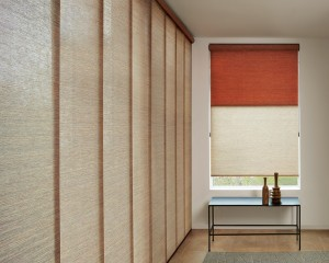 Designer Roller Shades + Skyline Panels with Continuous Cord Loop-min
