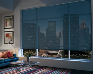 Designer Screen Roller Shades with Continuous Cord Loop-min